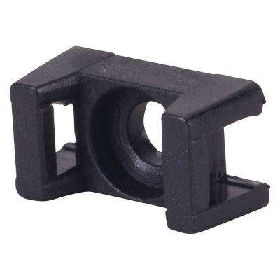 Saddle Tie Mount 0.130 in. Hole, Black (100-Pack)