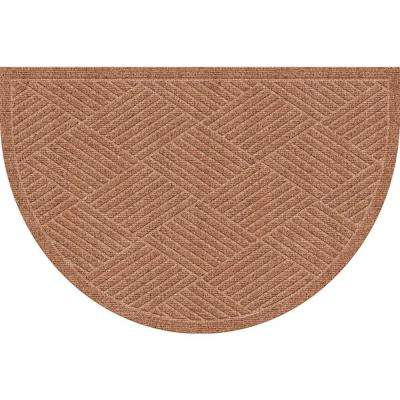 WaterGuard Diamonds Medium Brown 24 in. x 39 in. Polypropylene Mat