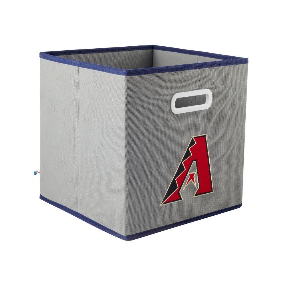 MyOwnersBox MLB STOREITS Arizona Diamondbacks 10-1/2 in. x 10-1/2 in. x 11 in. Grey Fabric Storage Drawer
