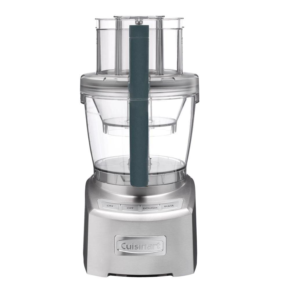 Elite 2.0 Food Processor, Die Cast The Cuisinart Elite Collection 14-Cup Food Processor delivers the next big innovation for the modern kitchen. With a 4.5-cup work bowl nested inside the 14-cup bowl, plus a new adjustable slicing disc, which now slices up to 10 mm, and the reversible shredding disc, it provides home chefs with multiple food processors in one. 1300-Watt provides powerful performance, and the control panel and storage case have been redesigned for a sleeker look. The simplified seal system delivers maximum bowl capacity, plus clean processing and pouring. No other processor does it better. Color: Die cast.