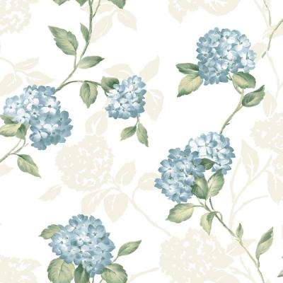 Arbor Rose Blue Floral Trail Wallpaper