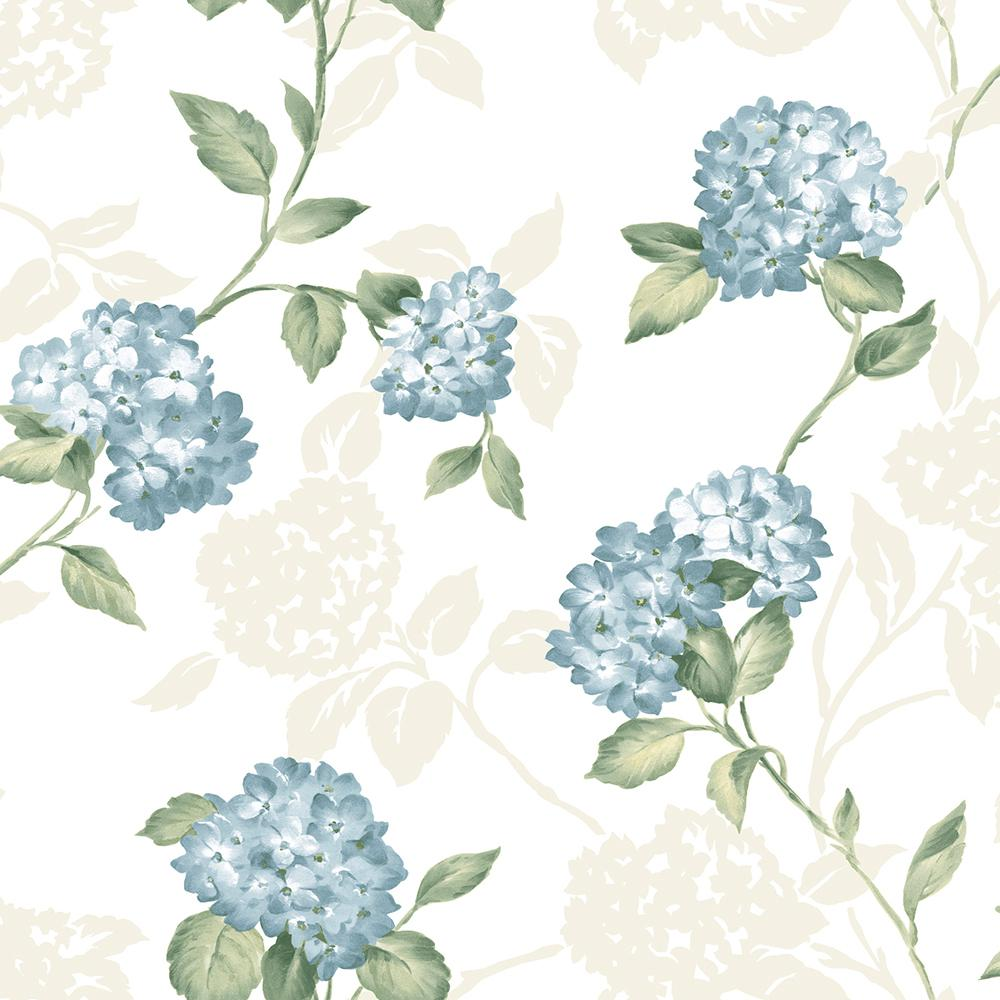 Arbor Rose Blue Floral Trail Wallpaper Sample