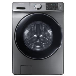 Charmant Samsung 4.5 Cu. Ft. High Efficiency Front Load Washer With Steam In  Platinum, ENERGY STAR WF45M5500AP   The Home Depot