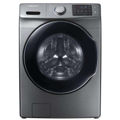 4.5 cu. ft. High Efficiency Front Load Washer with Steam in Platinum, ENERGY STAR