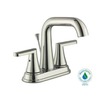 Jax 4 in. Centerset 2-Handle High-Arc Bathroom Faucet in Polished Nickel