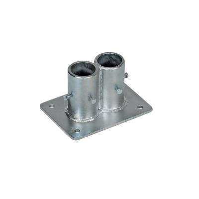 5 in. x 7 in. x 4 in. Steel Double Socket Safety Railing Pipe Option