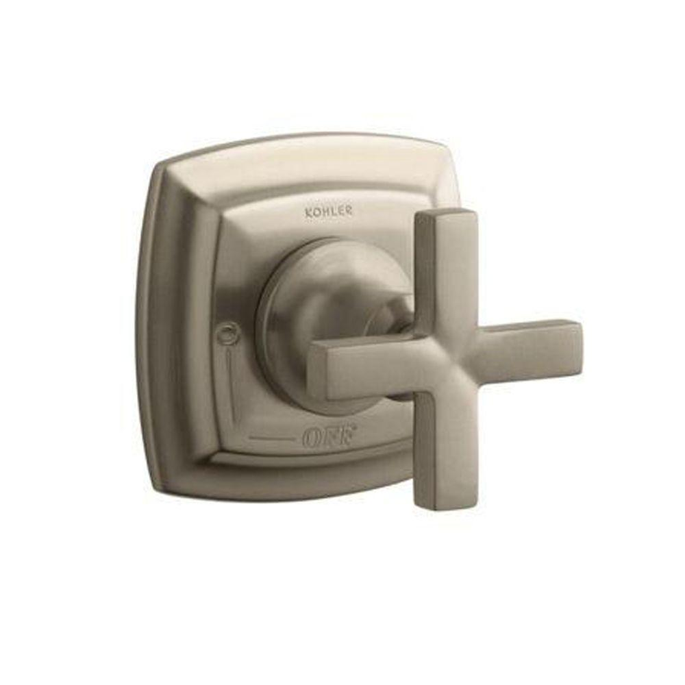 KOHLER Margaux 1-Handle Volume Control Valve Trim Kit in Vibrant Brushed Bronze with Cross Handle (Valve Not Included)
