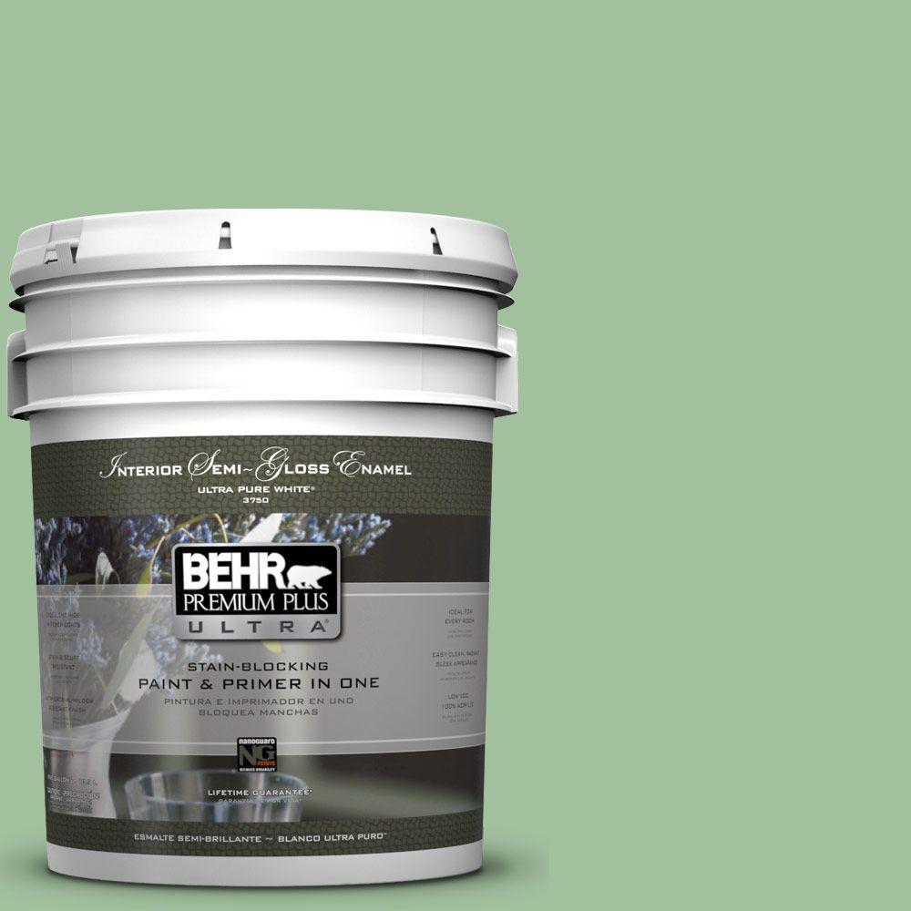 5-gal. #BIC-25 Spring Sprig Semi-Gloss Enamel Interior Paint