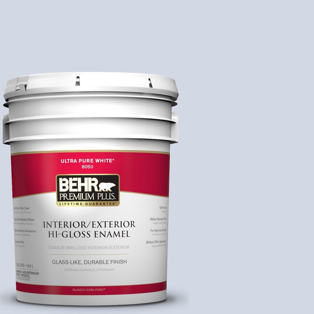 BEHR Premium Plus 5-gal. #S540-1 So Blue-Berry Hi-Gloss Enamel Interior/Exterior Paint