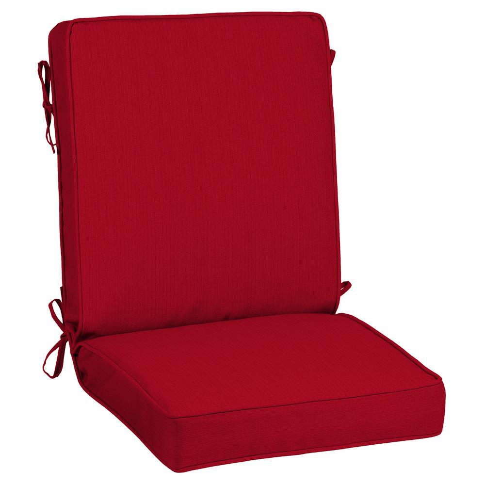 21 x 44 Sunbrella Spectrum Cherry Outdoor Dining Chair Cushion