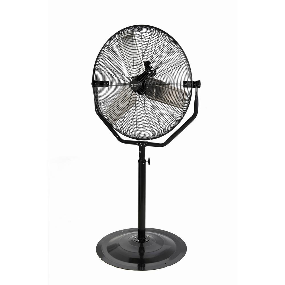 Adjustable-Height 30 in. Easy-Assembly Pedestal Fan