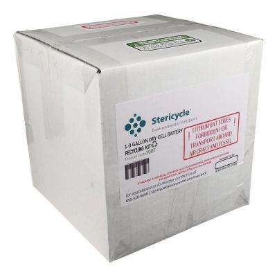 1 Gallon Dry Cell Battery Pail Prepaid Recycling Kit