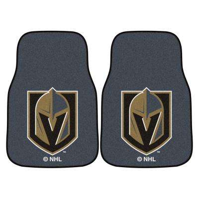 NHL - Vegas Golden Knights 17 in. x 27 in. 2-Piece Set of Carpet Car Mats