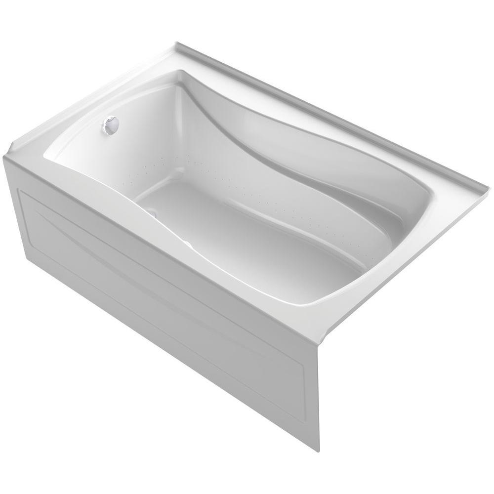 Mariposa 5 ft. Air Bath Tub in White