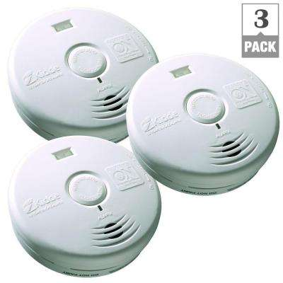 10-Year Worry Free Battery Operated Smoke Alarm with LED Escape Light-(Bundle of 3)