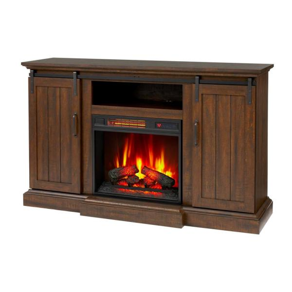Home Decorators Collection Kerrington, Fake Fireplace Heater Tv Stand