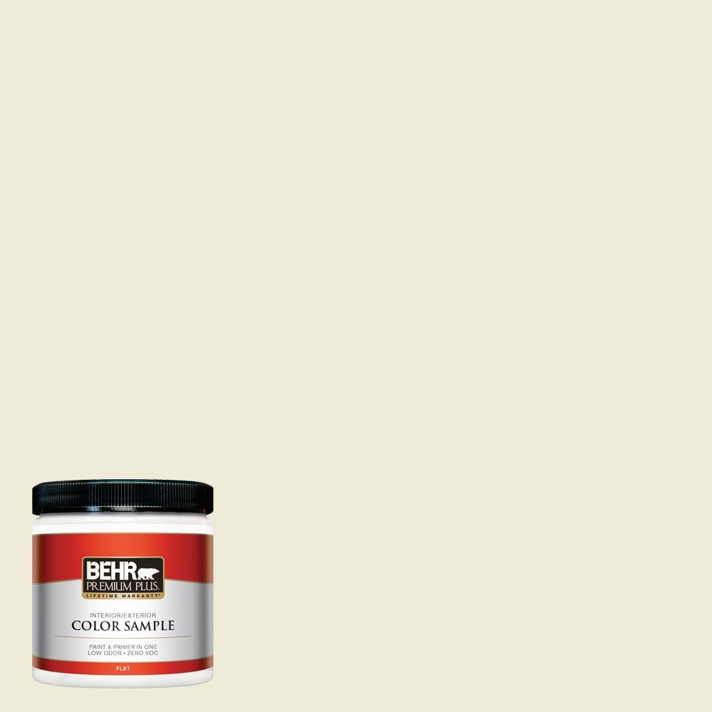 8 oz. #PPL-30 Soft Moonlight Zero VOC Interior/Exterior Paint Sample