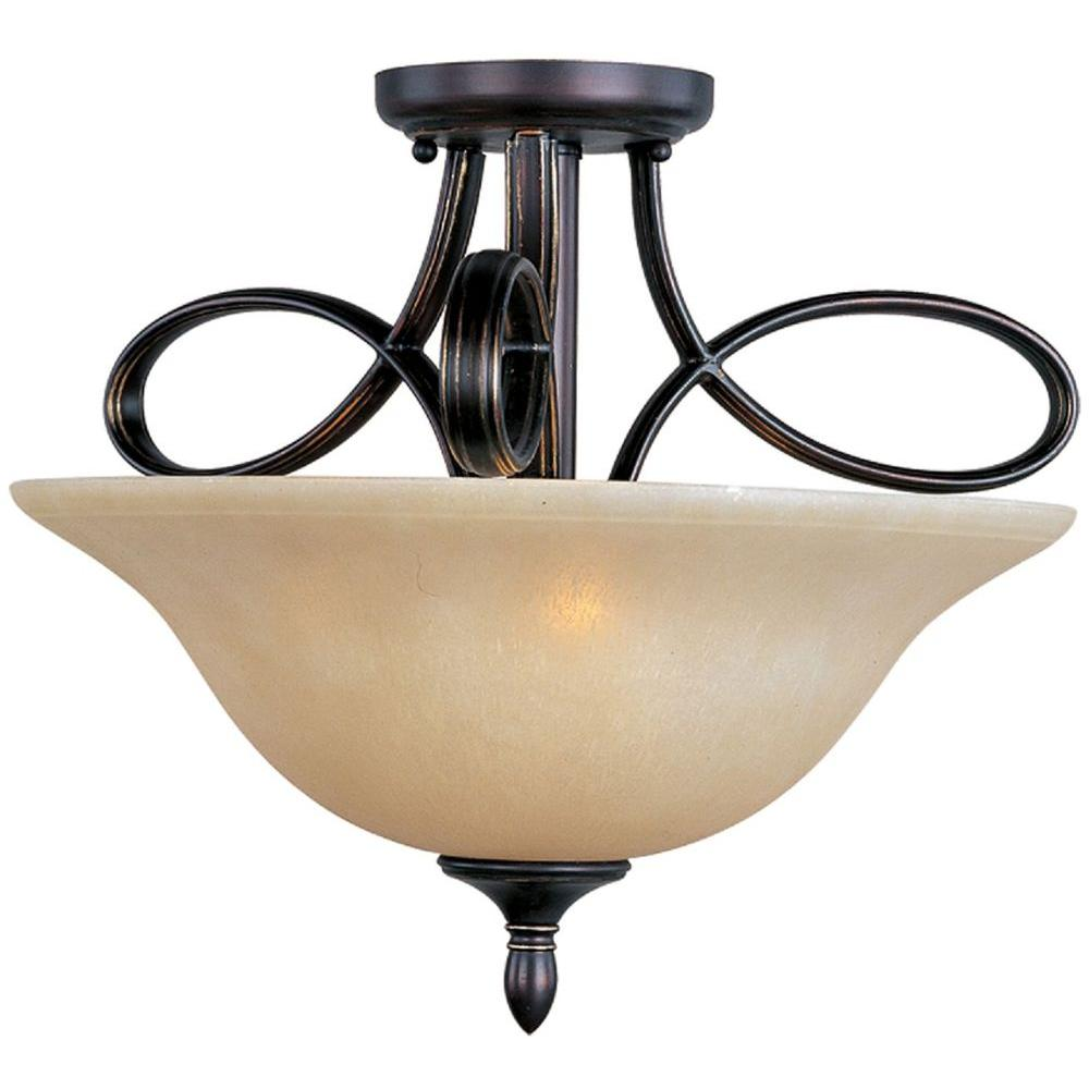 Infinity 3-Light Oil-Rubbed Bronze Semi-Flush Mount Light