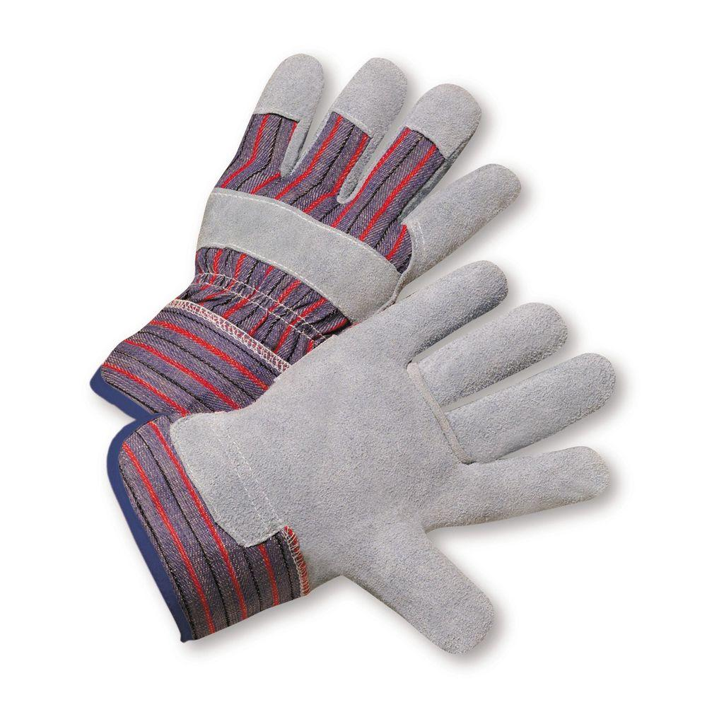 West Chester Split Leather Palm with Canvas Back Large Work Gloves