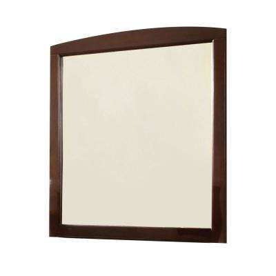 William S Home Furnishing Medium Rectangle Dark Walnut Classic Mirror 36 In H X 32 25 In W Cm7905exp M The Home Depot