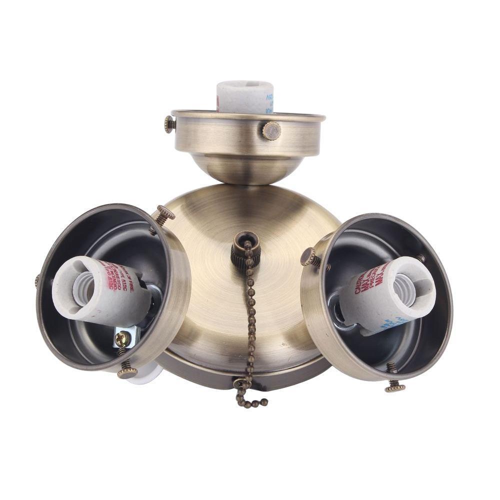 Clarkston 44 in. Antique Brass Light Kit