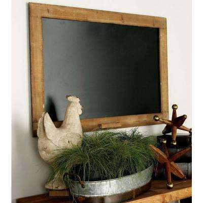 Farmhouse Wooden Walnut Brown Blackboard