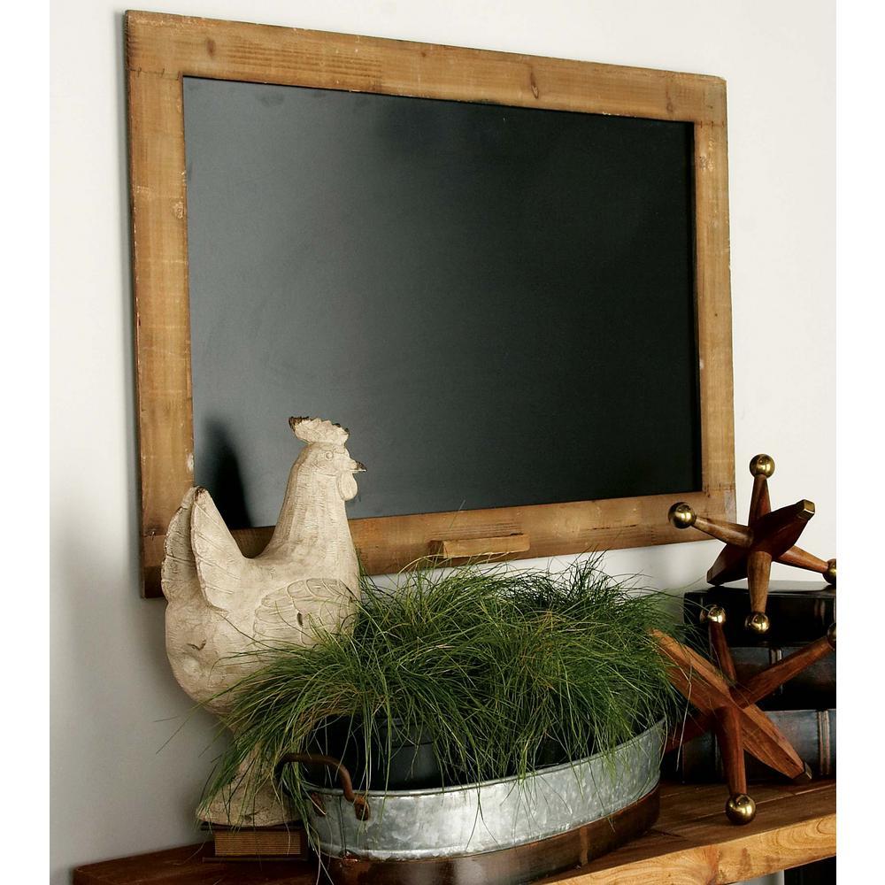 Litton Lane Farmhouse Wooden Walnut Brown Blackboard