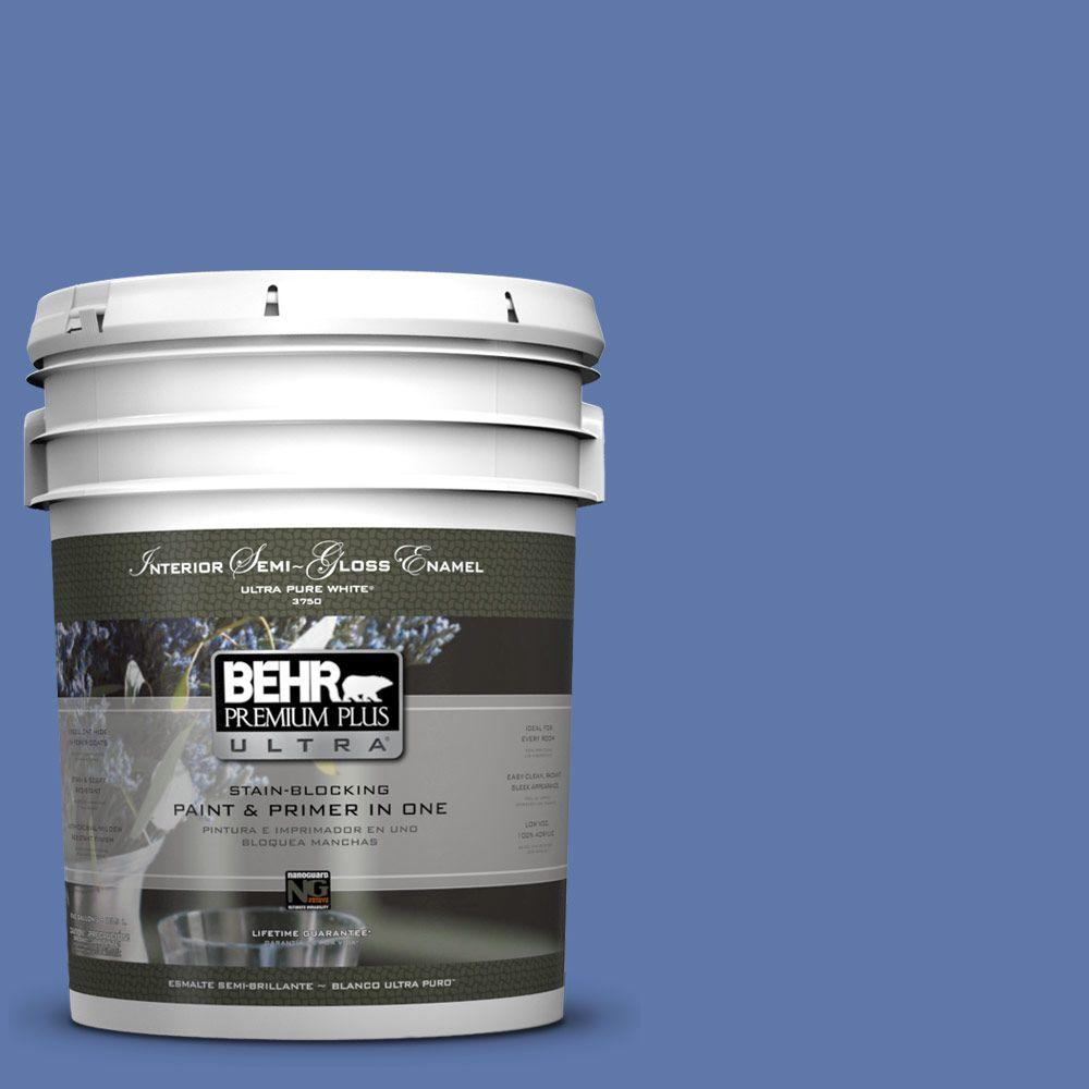 BEHR Premium Plus Ultra Home Decorators Collection 5-gal. #HDC-FL13-6 Baltic Blue Semi-Gloss Enamel Interior Paint - DISCONTINUED