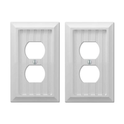 Cottage 1 Gang Duplex Composite Wall Plate - White (2-Pack)