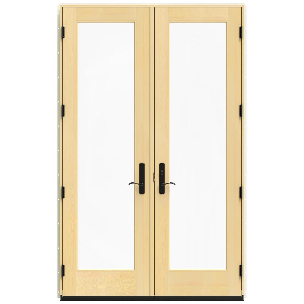 Jeld Wen In X 95 5 In W 4500 French Vanilla French Wood Left Hand Inswing Patio Door
