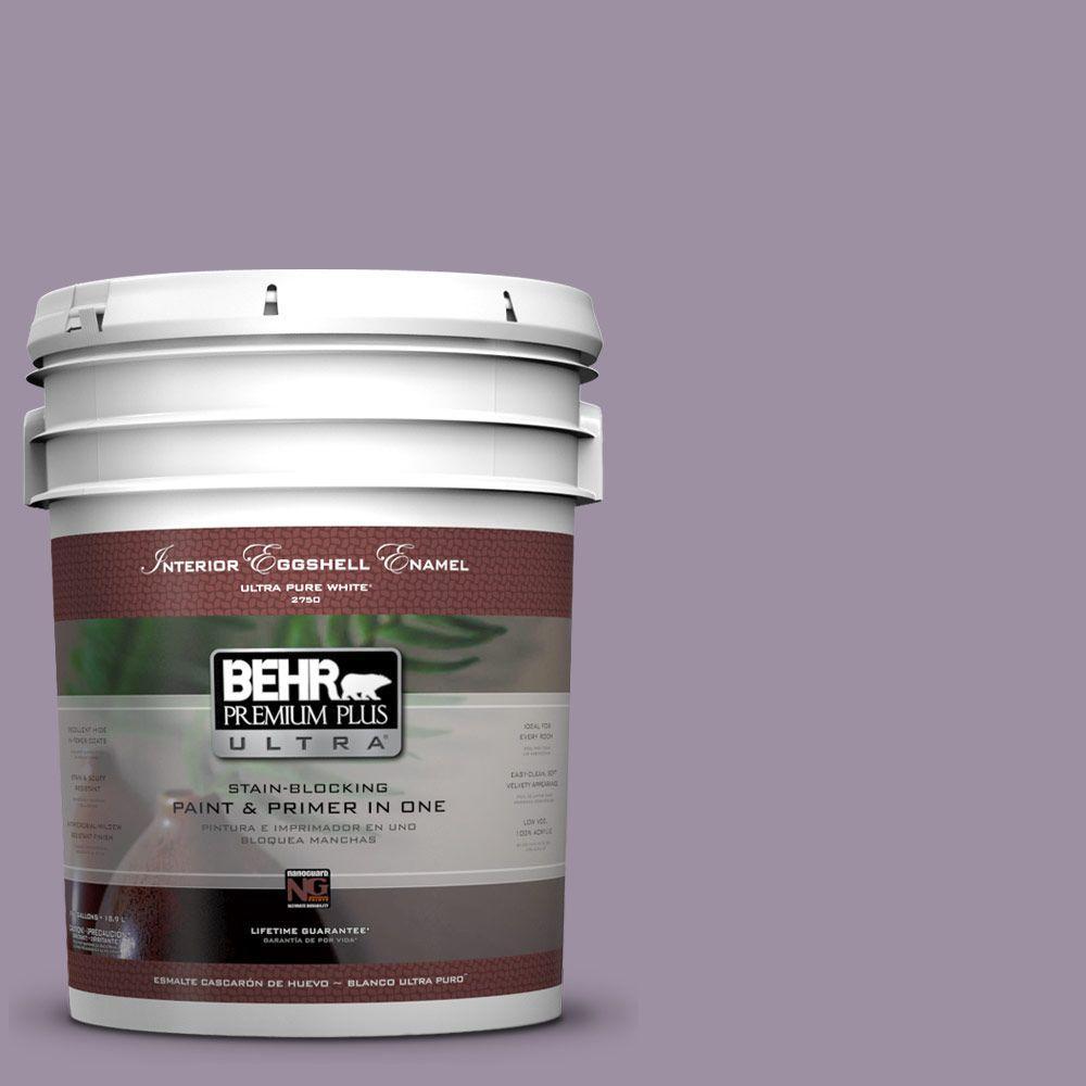 BEHR Premium Plus Ultra 5-gal. #660F-5 Amethyst Phlox Eggshell Enamel Interior Paint
