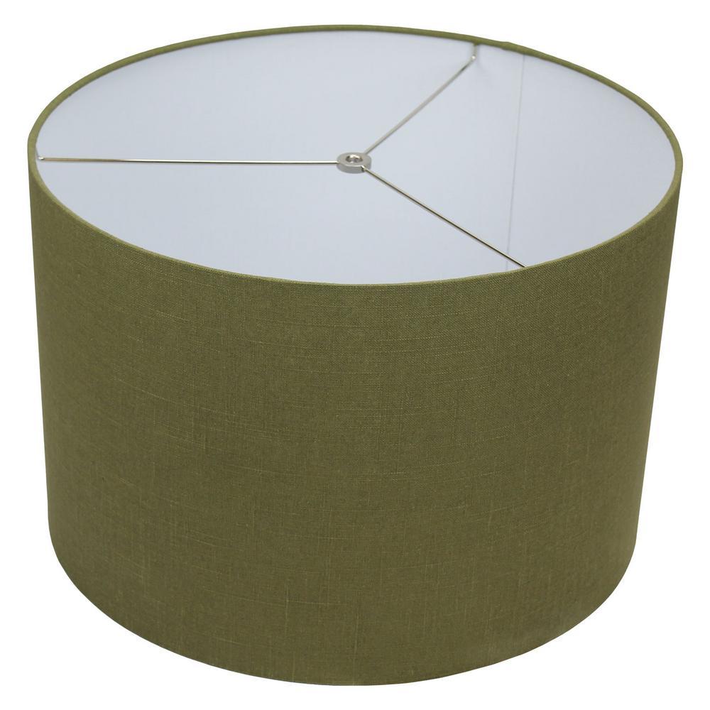 18 in. Top Diameter x 18 in. Bottom Diameter x 12 in. H Designer Linen Frog Drum Lamp Shade