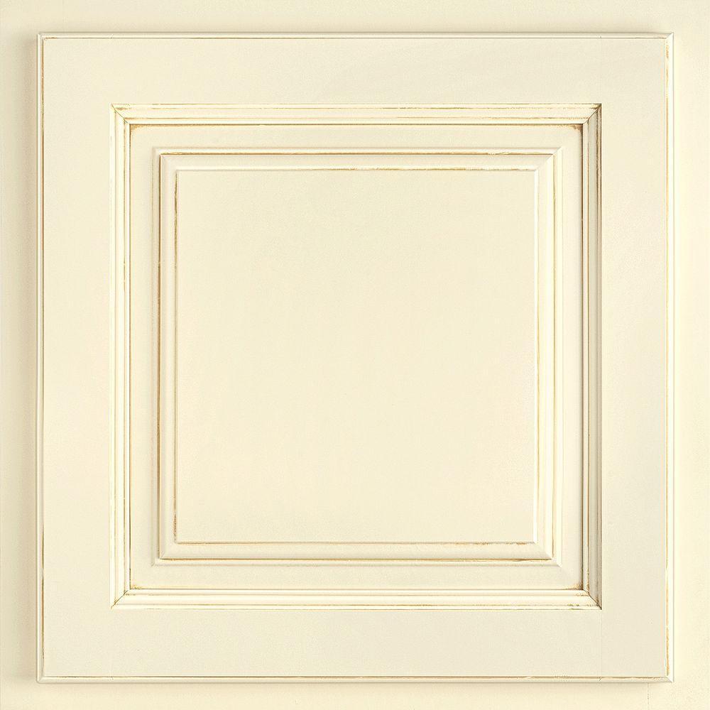 American Woodmark 13x12-7/8 in. Cabinet Door Sample in Newport Painted Butterscotch Glaze