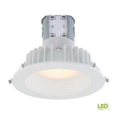 Easy-Up 6 in. White Baffle Integrated LED Recessed Kit at 91 CRI, 2700K, Warm White