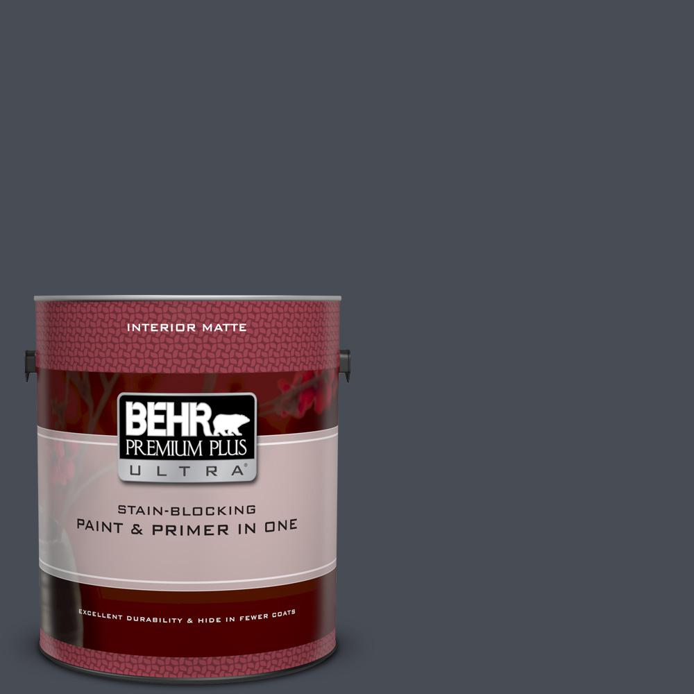 BEHR Premium Plus Ultra 1 gal. #UL260-23 Poppy Seed Matte Interior Paint and Primer in One