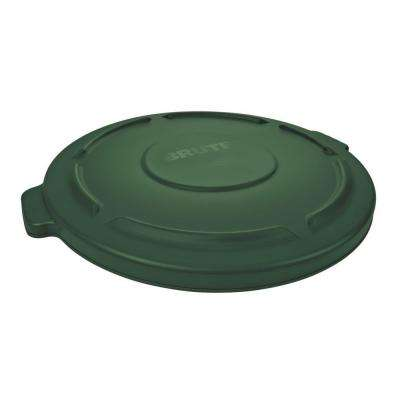Brute 44 Gal. Green Round Trash Can Lid