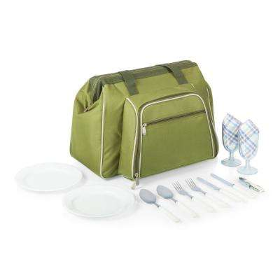 Toluca Green Wood Picnic Cooler Tote