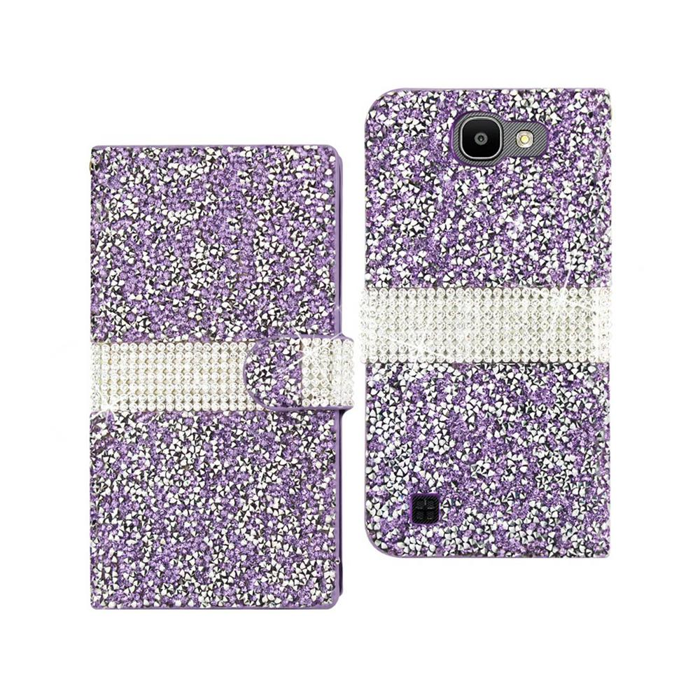 REIKO LG Spree Folio Case in Purple
