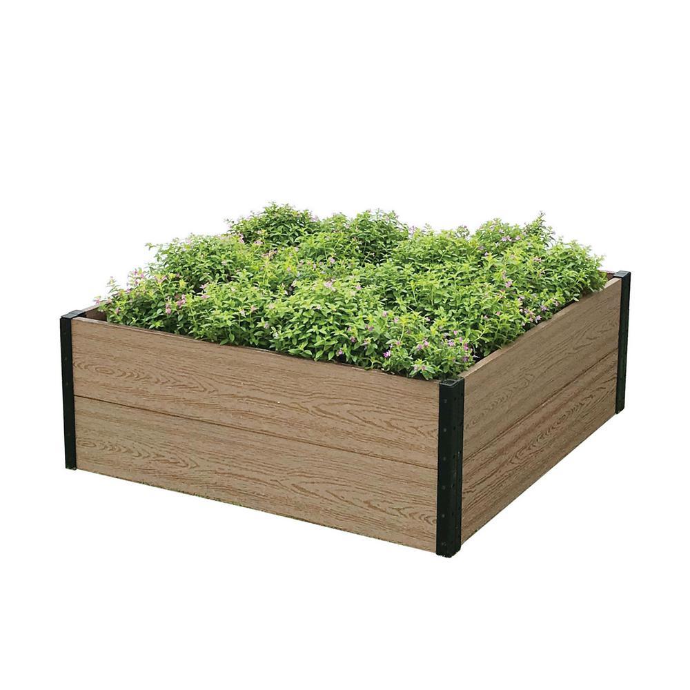 3 ft. W x 3 ft. D x 14 in. H Premium Deep Root Garden Bed