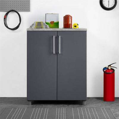 Latitude 35.51 in. H x 27.68 in. W x 19.69 in. D 2 Door Base Cabinet in Gray
