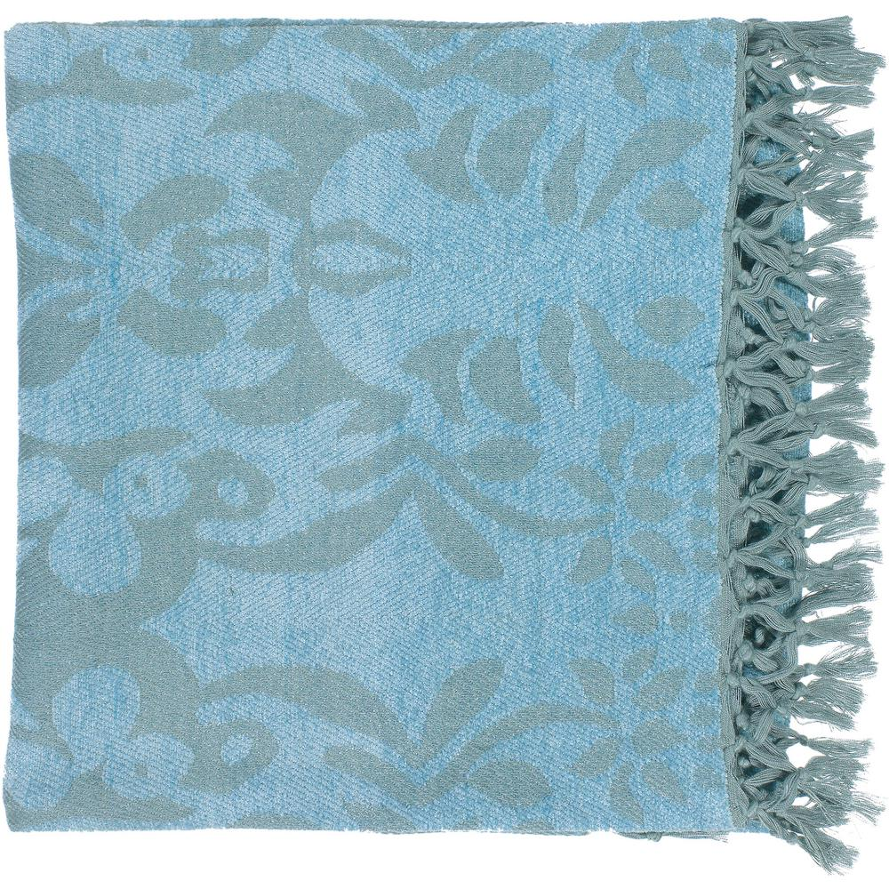 Bailey Sky Blue Cellulose Throw