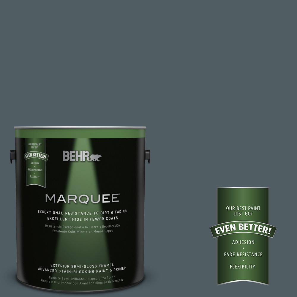 1-gal. #740F-6 Marine Magic Semi-Gloss Enamel Exterior Paint