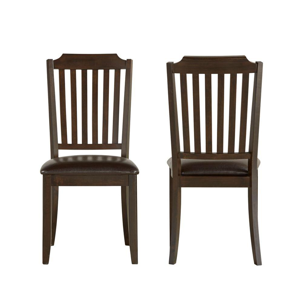 Dark Wood Dining Set: HomeSullivan Mark Ridge Dark Cherry Wood Dining Chair (Set Of 2)-405101S2PC