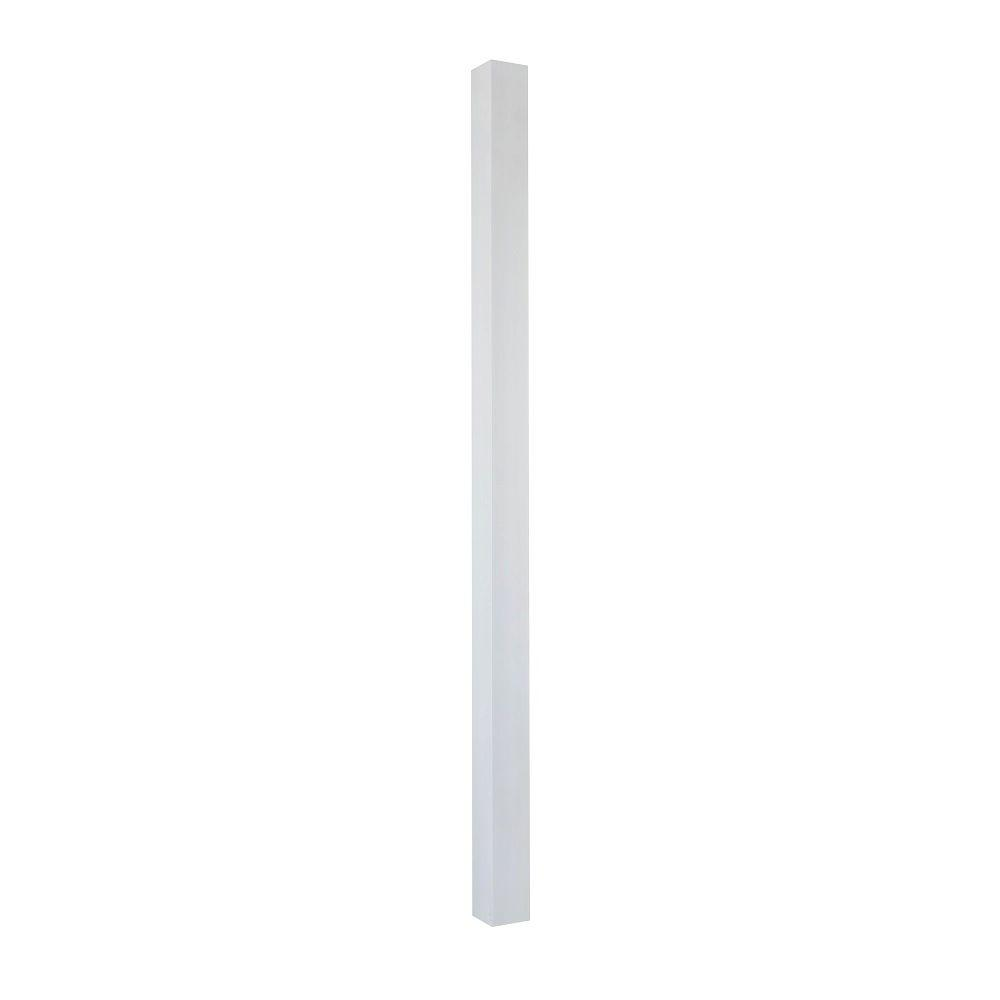 Afco 8 ft x 6 in aluminum square column with cap and for Hb g square columns