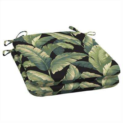 19 x 18 Onyx Cebu Outdoor Seat Cushion (2-Pack)