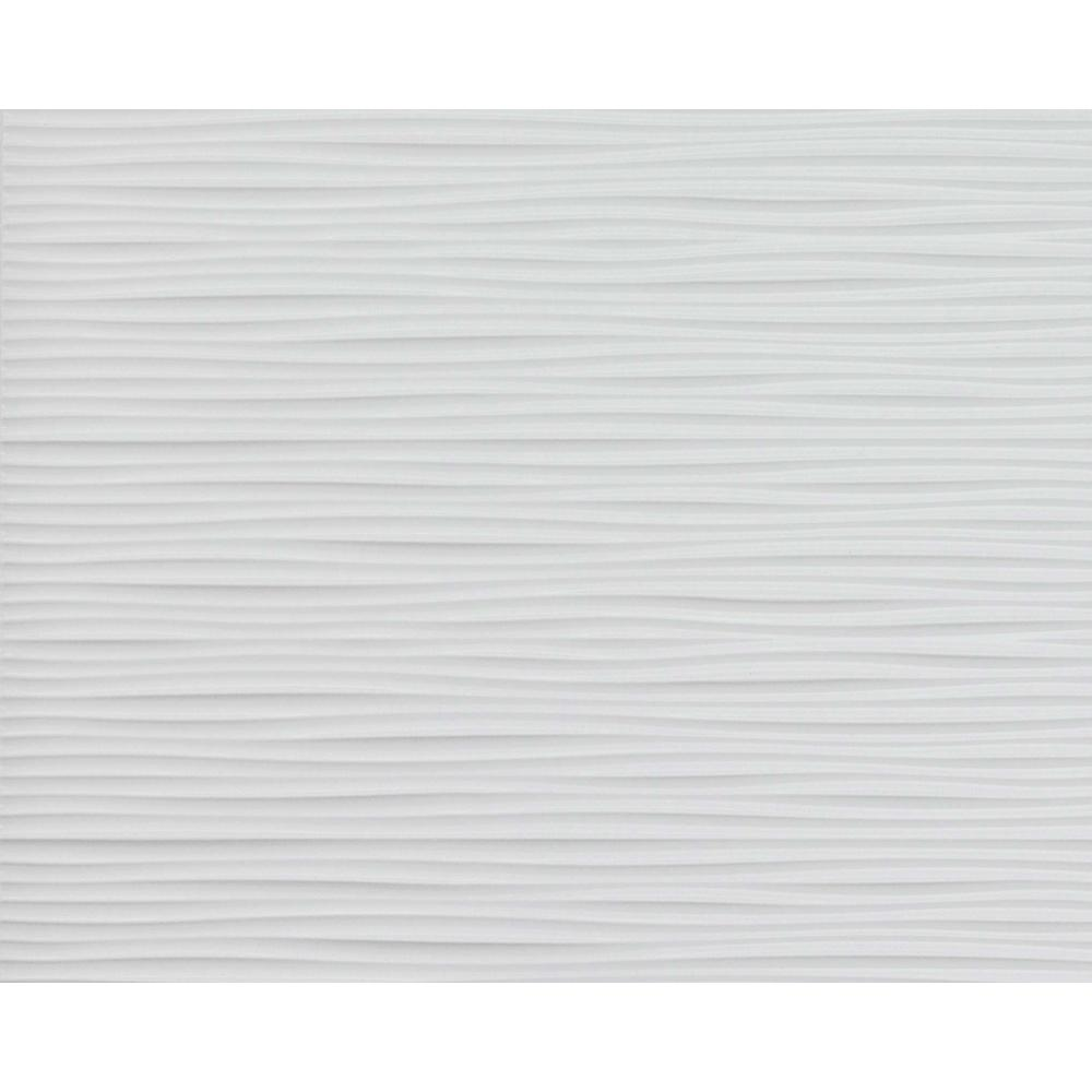 Innovera Decor by Palram Wilderness 18.5 in. x 24.3 in. PVC Backsplash Panel in Snow White (6-Piece)