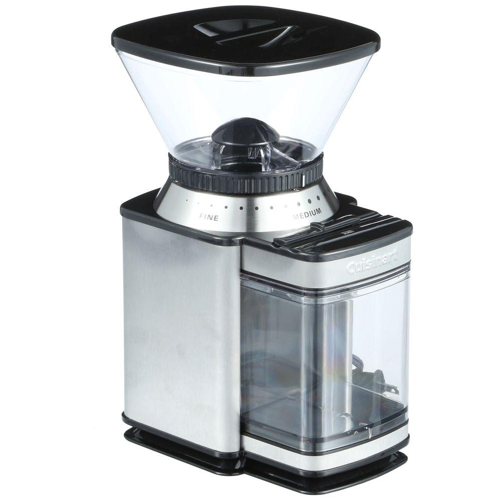 Supreme Grind 8 oz. Stainless Steel Burr Coffee Grinder with Adjustable Settings