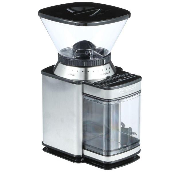 Cuisinart Supreme Grind 8 oz. Stainless Steel Burr Coffee Grinder with