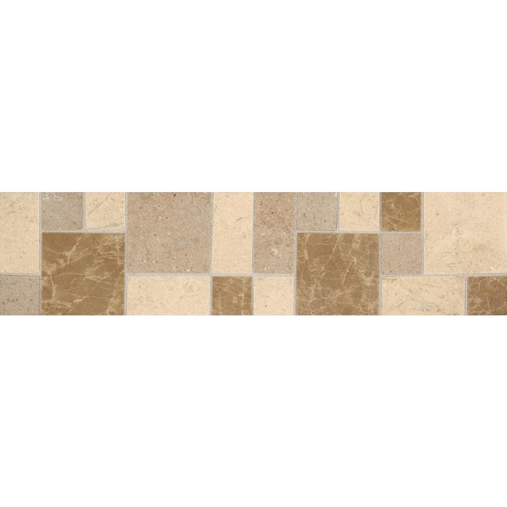 Decorative Stone Accent : Daltile stone decor cube vision in natural