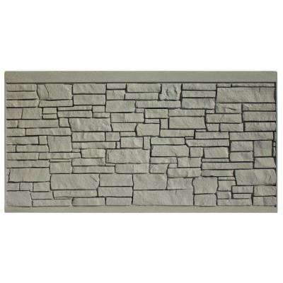 4 ft. H x 8 ft. W EcoStone Gray Composite Fence Panel